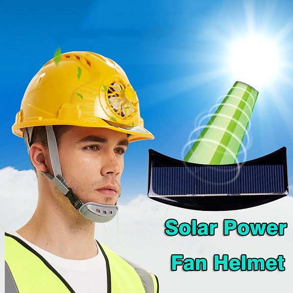 Fan Helmet Outdoor Solar Power Safety Hard Hat Working Construction Workplace High strength ABS Protective Cap Solar Panel