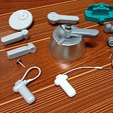Magnetic Sensor Tag Remover 15000GS Security Tag Detacher+1 Hook Detacher Key Detacher+1Sensor Alarm Tag