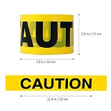 100M Barricade Caution Tape Warning Tape for Law Enforcement Construction Public Works Safety Universal CAUTION tape
