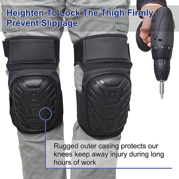 Work Knee Pads with Gel Padding Adjustable Straps Protect Good Shock And Cushioning Knee Pads for Gardening Construction Worker