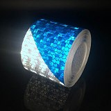 Reflective Tape Bike Stickers Reflective Safety Warning Conspicuity Reflective Tape Film Sticker Light Bar Bicycle Accessories