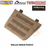 MILITECH TWINFALCONS TW 500D Delustered Cordura Molle Groin Pouch Groin PAL Accessory Pouch Sub Abdominal Pouch Groin Bag