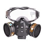 Gas Mask With Filters Actived Carbon Safety Goggles Protective Mask for Spray Paint Pesticide Decoration Formaldehyde Respirator