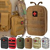 Camping Survival First Aid Kit Bag Military Tactical Medical Waist PackEmergency Outdoor Travel Camping Oxford Cloth Molle Pouch