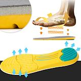 1Pair Protective Soft Insoles Cushion Foot Care Shoe Inserts Pad Shoe Gel Cool Deodorant Safety Orthotic Tool