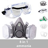 Gas Mask Respirator 6200 for Paint Rubber Fabric with Cartridge Spray Protective Glasses Chemical Industry Decoration Protection