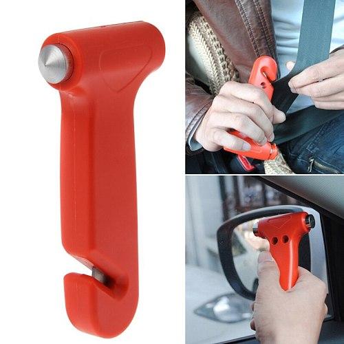 2 in 1 Car Emergency Safety Escape Hammer Glass Window Breaker Cutter Tool