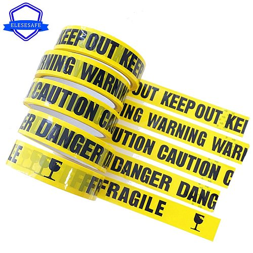 1 Roll 24mm*25m Yellow Warning Sign Tapes DIY Sticker Caution Danger Barrier Safety Reminder For Store Warehouse Factory School