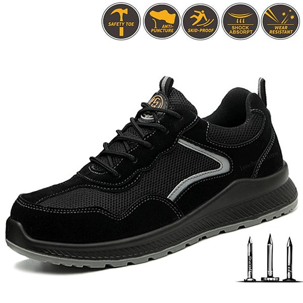 Compound Head 6KV Insulated Militar Work Boots Anti-smash Anti-puncture Safety Shoes Steel Toe Anti-static Cowhide Sport Shoes