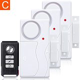 Wireless Door Window Open Closed ABS Remote Control Door Sensor Alarm Host Burglar Security Alarm System Home High Decibel Alert