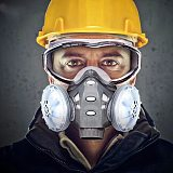 Dust Mask With Filters Cotton Safety Goggles Rubber Protective for Spray Paint Pesticide Decoration Washable Reusable Respirator