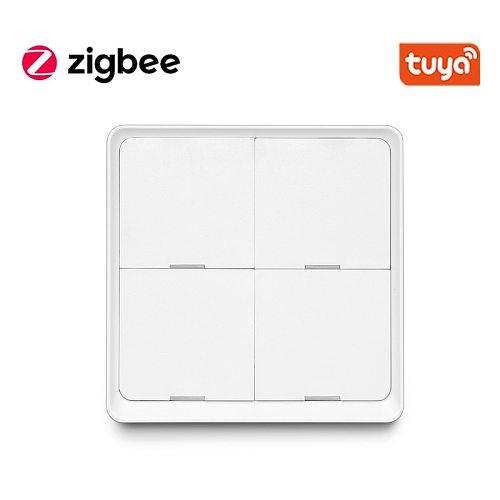 Tuya Smart ZigBee Smart Switch 4 Gang Scenario Scene Switch Support Zigbee2mqtt deCONZ Home Assistant SmartThings