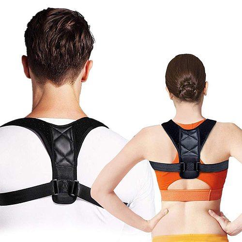 Back Posture Correct Belt Adjustable Clavicle Shoulder Spine Lumbar  Humpback Band Safety Harness  For Adult Children
