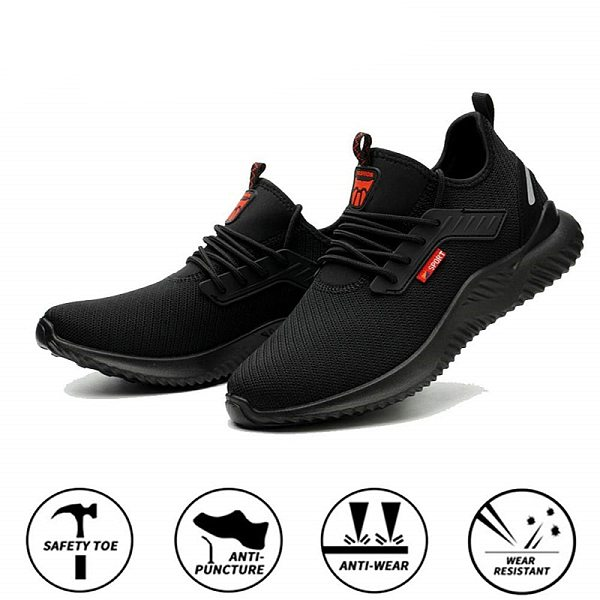 Summer Steel Toe Work Shoes Men Puncture Proof Safety Shoes Man Light Industrial Casual Shoes Male Workplace Safety Work Boots