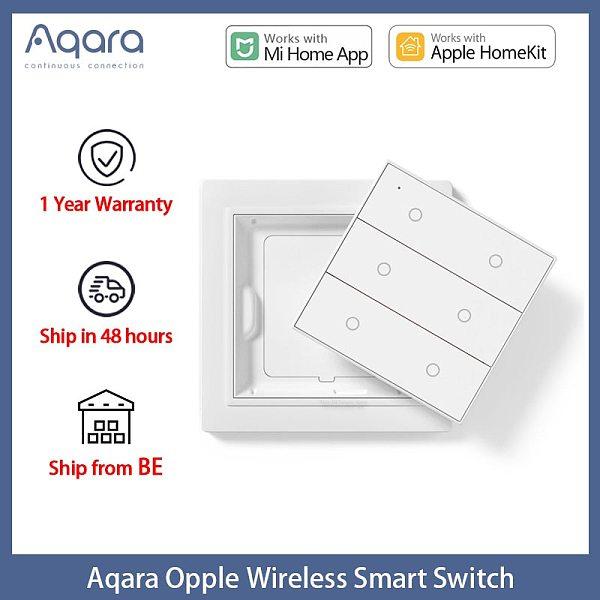2020 Original Aqara Opple Wireless Smart Switch International Version ZigBee 3.0 Work With Mijia App Apple HomeKit Wall Switch
