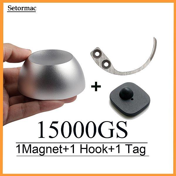 Magnet Golf Detacher 15000GS  Security Tag Remover+Handkey Detacher Hook+Alarms Tag Suplerlock For RF8.2Mhz EAS Systems