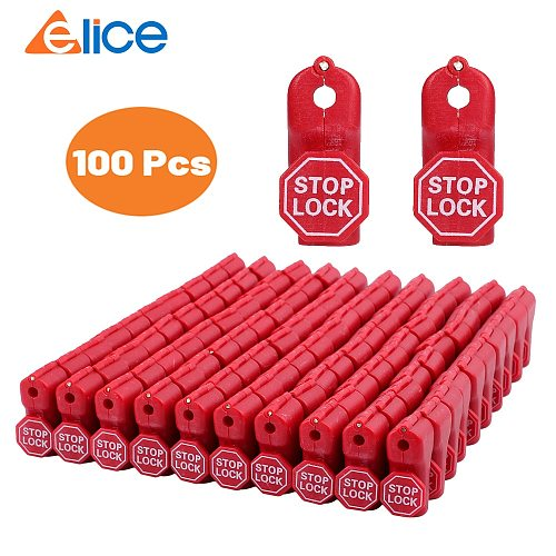 100 pcs/Bag Red 6mm EAS Security Tag stop lock hook security display hook  Anti Theft Stoplock