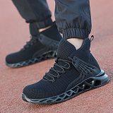 DEWBEST Men's Safety Shoes Steel Toe Construction Protective Footwear Lightweight 3D Shockproof Work Sneaker Shoes For Men