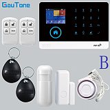 GT APP Remote Control Alarm Panel Switchable 9 Languages Wireless Home Security WIFI GSM GPRS Alarm System  RFID Card Arm Disarm