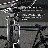 Remote Control Bike Alarm Waterproof Motorcycle Electric Bicycle Security 113dB Anti Lost Remind Vibration Warning Alarm Sensor