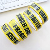 2.4cm*25m Warning Tape With Marks Creative Remind Danger, Caution, Fragile, Keep Out, Warning Safety Adhesive Tapes Decoration