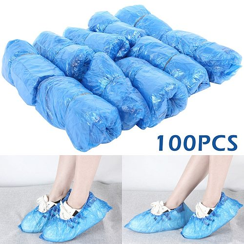 Hot sale blue plastic disposable foot cover outdoor waterproof and moisture-proof dustproof shoe cover thick and wear-resistant