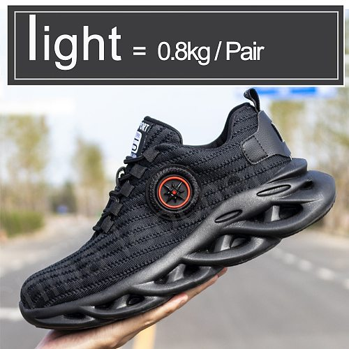 Safety Shoes Men ,Steel Toe Anti-smash Work Shoes, Soft Rubber Sole Sports Shoes Men,botas Con Casquillo Industrial boots
