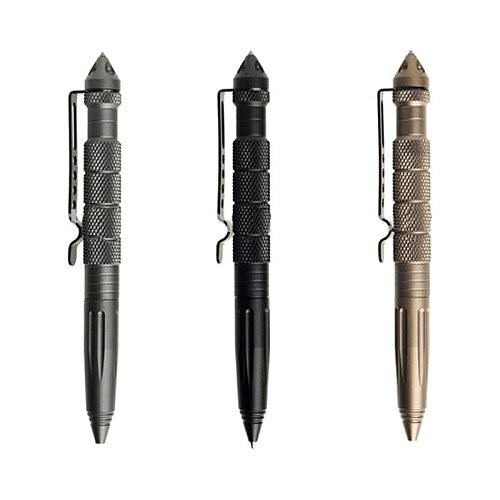 Military Tactical Pen Self Defense Weapons Aluminum Alloy Defence Kit Outdoor Multipurpose Emergency Glass Breaker Survival Tool