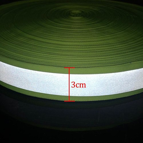 Reflective Fabric Warning With Bright Tape For Clothes