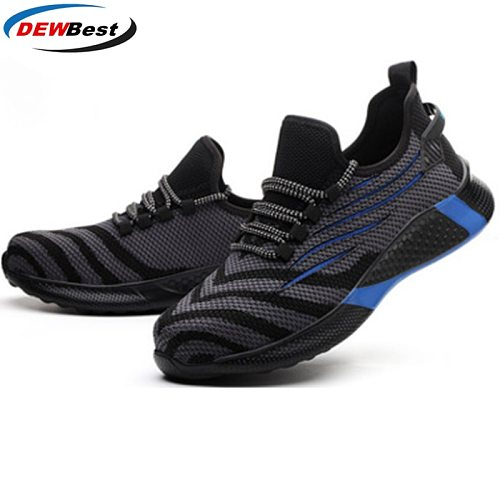 2021 men's safety shoes new rubber soft bottom anti puncture breathable light outdoor fashion wear-resistant protective shoes
