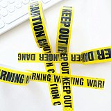 1/Roll 24mm*25m Warning Tape Danger Caution Fragile Barrier Remind DIY Sticker Work Safety Adhesive Tapes For Mall Store School