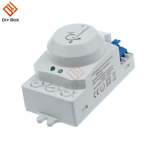5.8GHz LED Microwave Radar Sensor Light Switch Human Body Motion Induction Sensor Controller Switch AC 220V-240V DC 12V 24V
