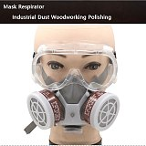 Industrial Gas Mask Spray Paint Painting Decoration Polishing Formaldehyde Protection Pesticide Chemical Dust-proof Gas Mas