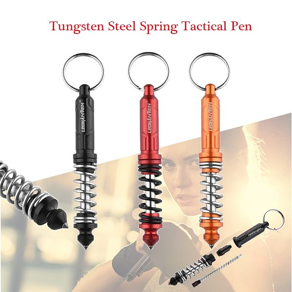New T-6 Spring Tactical Pen Tungsten Steel Self Defense Pen Tactical Survival Pens Multifunction Glass Breaker Security protect