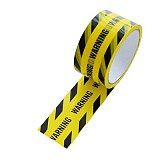 1 Roll 48mm*25m Opp Warning Tape Danger Caution Barrier Remind Work Safety Adhesive Tapes DIY Sticker For Mall Store School