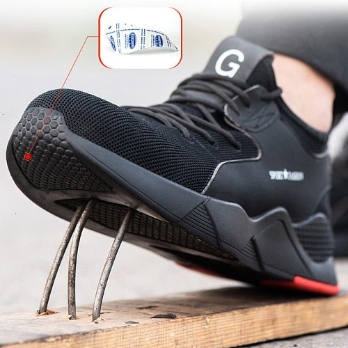 Safety Boot Steel Toe Work Safety Shoes Men Boots Breathable Outdoor Casual Sneaker autumn Construction shoes Work  plus size 50