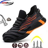 Men And Women Safety Work Shoes with Steel Toe Cap Puncture-Proof Boots Lightweight Breathable Sneakers Dropshipping