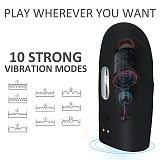 Rechargeable 10 Speeds Vibration Massager for Male Pleasure Training Sucker Toys Oral Cup Improve Endurance Trainer Device