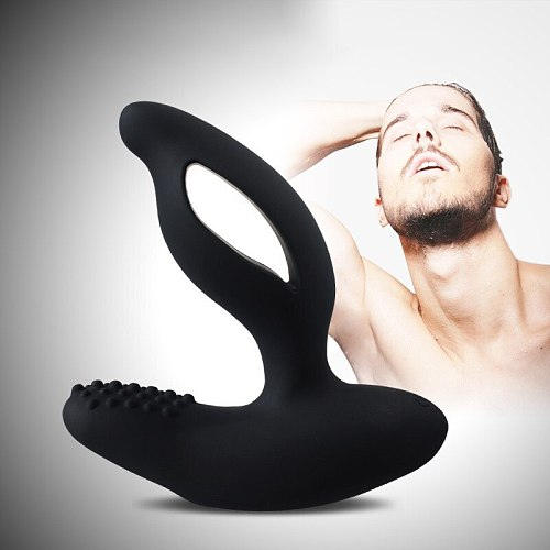 2019 New Male Solatium Prostate Titus Massager Remote Control Vibration Back Anal Plug Sex Toys for  Male Masturbation Products