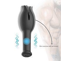 Male Masturbator Penis Delay Trainer Glans Massage Vibrator men's masturbator Penis Stimulate Erotic sex toys for men Sex Shop