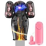 Double Bullet Glans Vibrator For Men Penis Exerciser 12 Speeds Remote Conntrol Penis Glans Trainer For Delay Ejaculation Sex Toy
