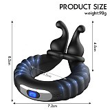 Male Masturbator Vibrator for Men Vibrating With Penis Dick Rings Trainning Delayed Ejaculation Masturbating Sex toys for Couple
