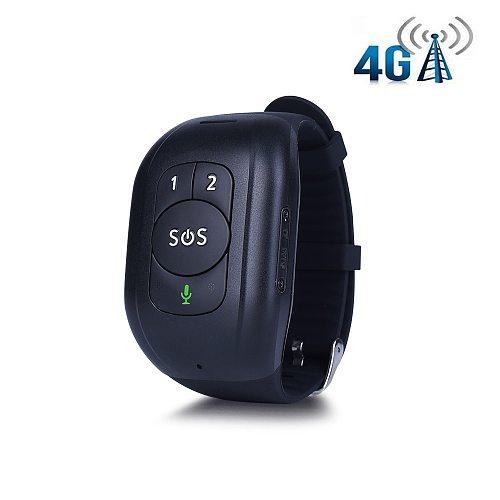 IP67 Waterproof 4G LTE GSM Elderly SOS Button Wristband Bracelet Emergency Alarm GPS Tracking Heart Rate Blood Pressure Monitor