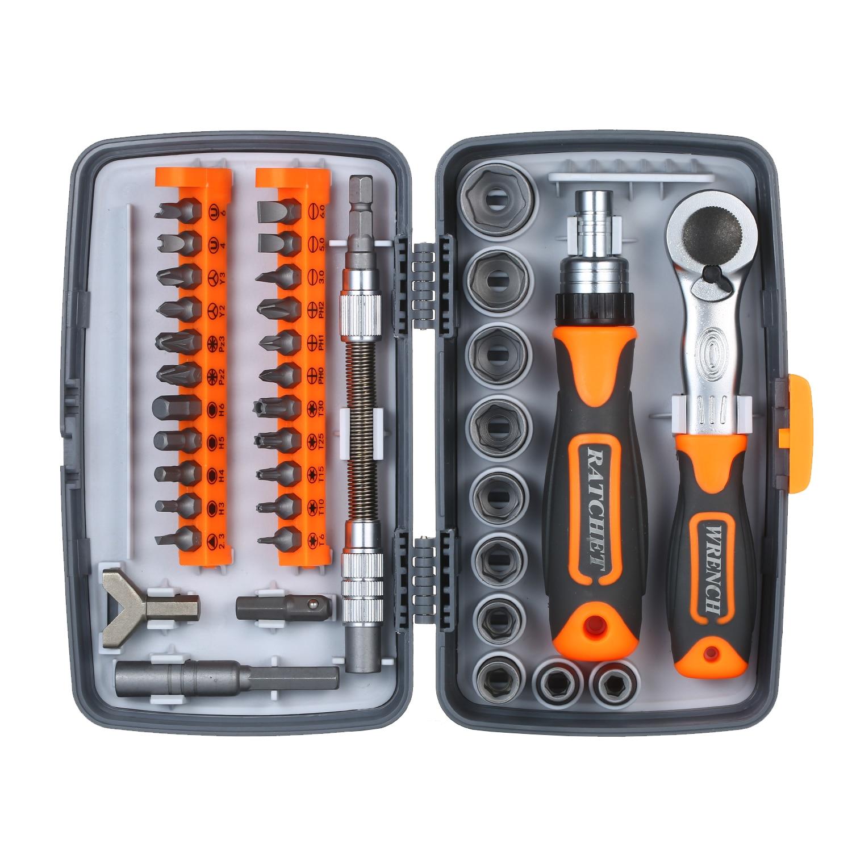 38pc Precision Ratchet Screwdriver Bit Set Magnetic Screwdrivers Kit Electronics Repair Tool Kit for Phone Laptop Watch