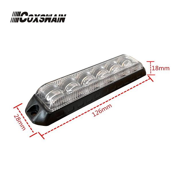 COXSWAIN DUAL COLOR Car LED emergency grill strobe light, 12*3W LED, LED flash warning light Truck surface mount light (VS-968D)