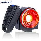 Anti Theft Bicycle Tail Light Alarm USB Rechargeable Super Bright Bicycle Light Waterproof LED Tail Light Bicycle Accessories
