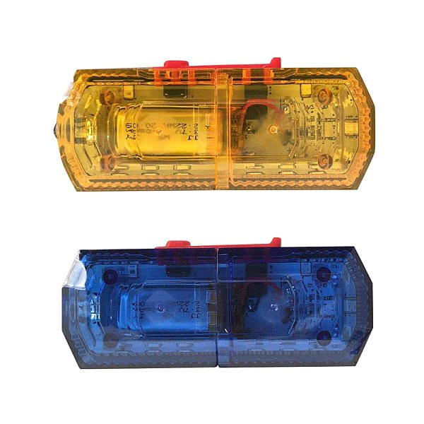 Waterproof Blue Red Yellow Color LED Flashing Shoulder Lamp Light Alarm Patrol Warning