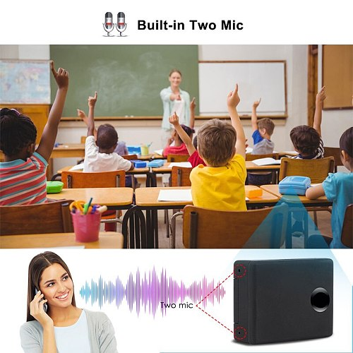 Mini GSM Listening Device N9 In Acoustic Alarm GSM Monitor Voice Surveillance System Quad Band 2 Mic Two-Way Auto Answer