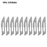Stainless Steel Scalpel Tool Set 10Pcs 11#23# Blades+1Pc Handle  Surgical Knifves Phone Computer PCB DIY Repair Wood Carving Pen