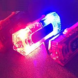 Waterproof Blue Red Color LED Flashing Shoulder Lamp Light Alarm Patrol Warning Lamp